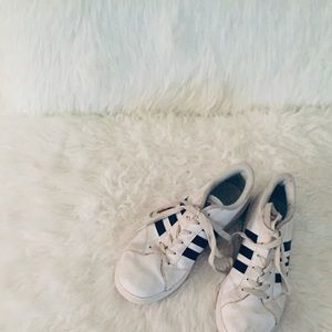 Adidas White and black shoes